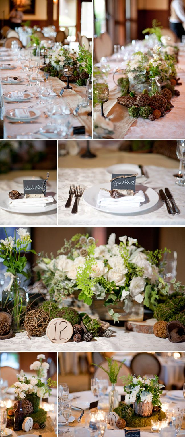 Love this whole earthy weddingness going on. The only way it could be better was if it were outside.