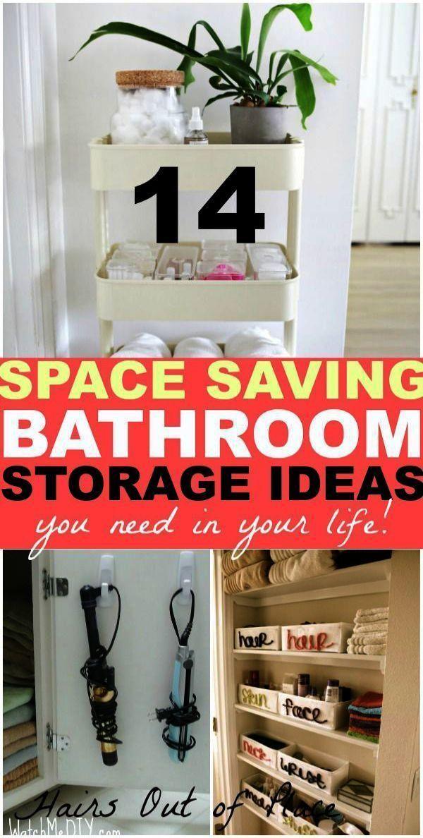 Bathroom Storage Jars Uk Through Bathroom Towel Storage Ideas Pinterest Undernea In 2020 Bathroom Organization Hacks Small Bathroom Organization Small Space Diy
