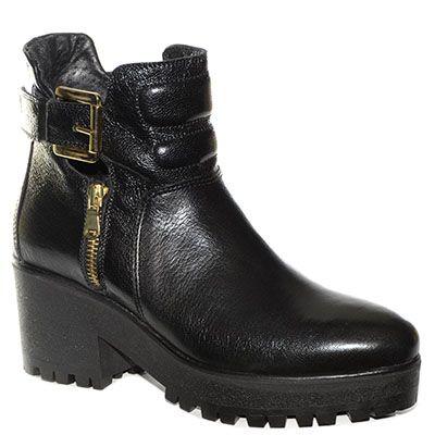#Stivaletto corto #CafèNoir in pelle nera con tacco a zeppa http://www.tentazioneshop.it/scarpe-cafe-noir/stivaletto-corto-hb201-nero-cafe-noir.html