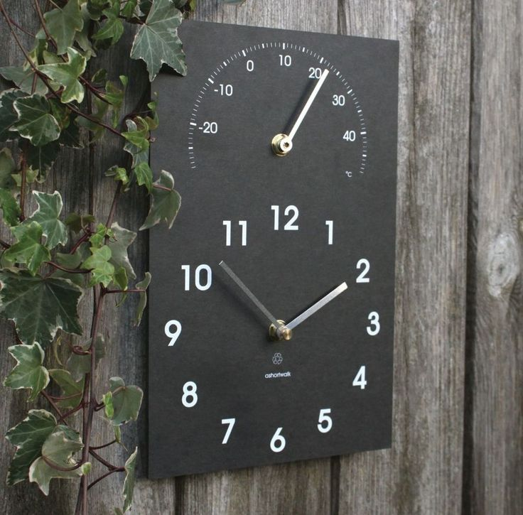 ECO Clock/Thermometer Outdoor/Indoor 100% Recycled Material ASHORTWALK gift box from Janggalay