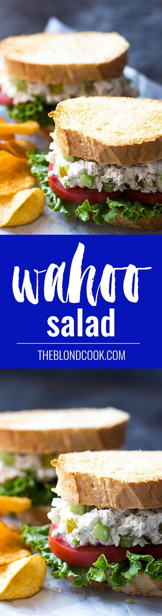 Wahoo Salad - A hearty salad made with fresh wahoo - Any firm white fish will work with this recipe!