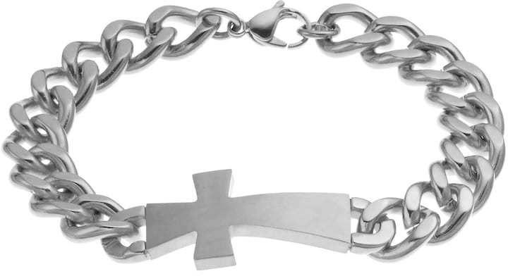 Kohl's Stainless Steel Sideways Cross Bracelet - Men