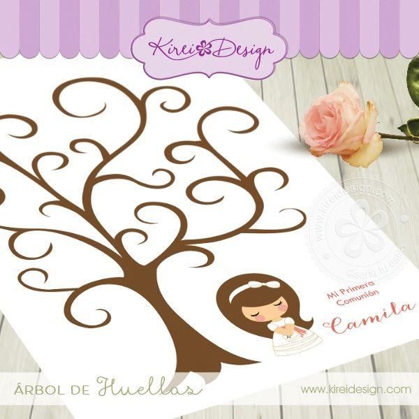 Árbol de firmas o huellas para comuniones » Todo Primera Comunión