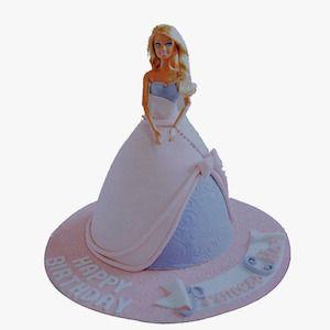 barbie doğum günü pastası, butik pasta, ankara butik pasta, doğum günü pastası, Morde barbie pastası