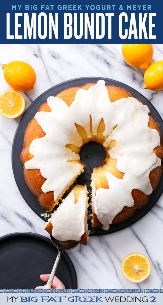 Boont? Bundt... Boont? It's Greek Yogurt Meyer Lemon Bundt Cake! Recipe from @loveandoliveoil, inspired by My Big Fat Greek Wedding 2
