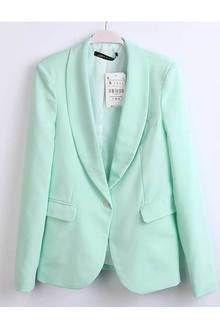 Купить пиджак женский свежая мята в интернет-магазине Justes