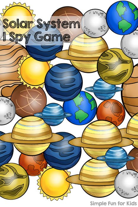 Printables for Kids: Solar System I Spy Game - great for counting, 1:1 correspondence, and number recognition.