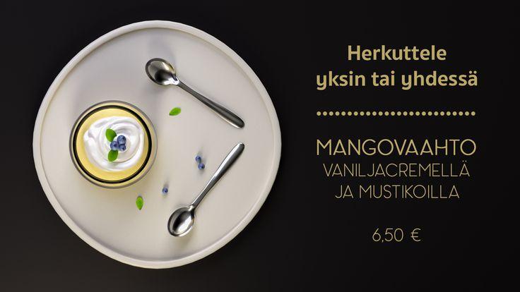 Fictional advertisement of a mousse dessert. Made with Blender 3D. © Johanna Pakkala. – 3D modeling