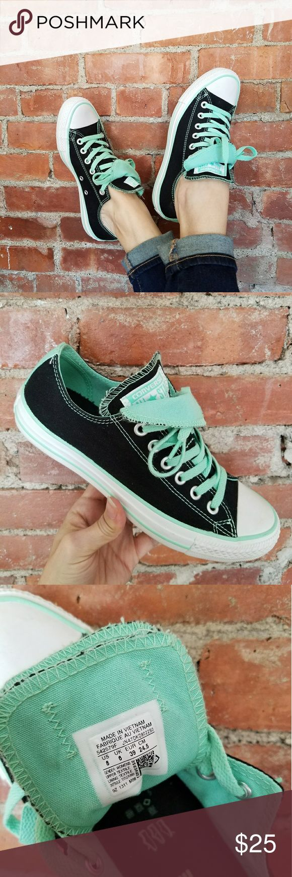 Converse  Double Tongue Chucks A great pair of lady's Chucks too nice to pass up!  These have been gently loved a couple of times,  so they look new!   Double tongue,  how do you style your All Stars?!  These have options! Converse Shoes Sneakers