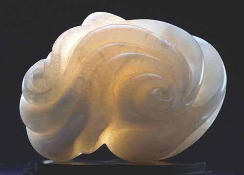 abstract stone sculpture by Pamela Soldwedel
