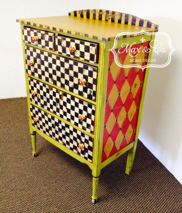 How To Paint A Harlequin Pattern On Furniture