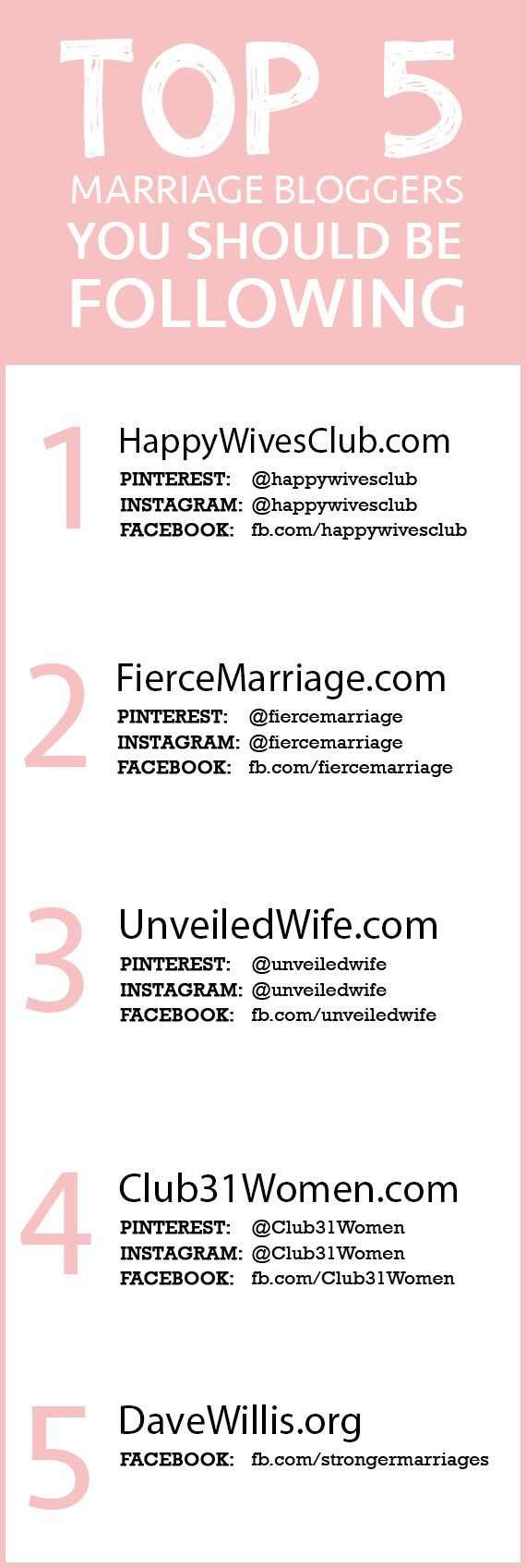 For all you married folks. These bloggers will inspire you.