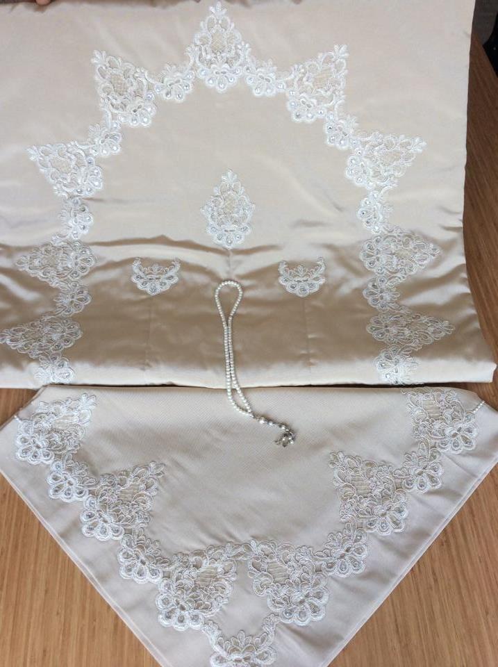 seccade dantel lace bohça prayer bundle dowry
