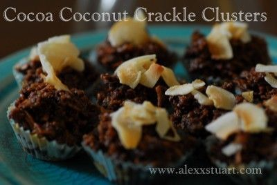 Raw Cocoa Coconut Crackle Clusters