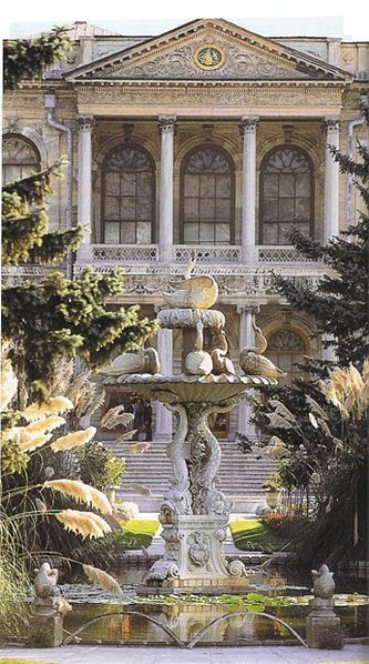 Garden facade and fountain, Dolmabahce Palace, Istanbul.  Going to be there in 4 weeks!!