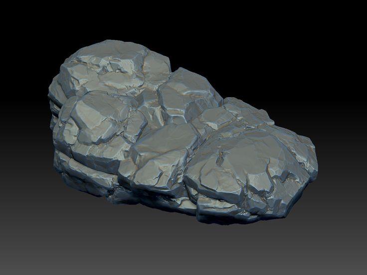 Rock 01, zbrush sculpting