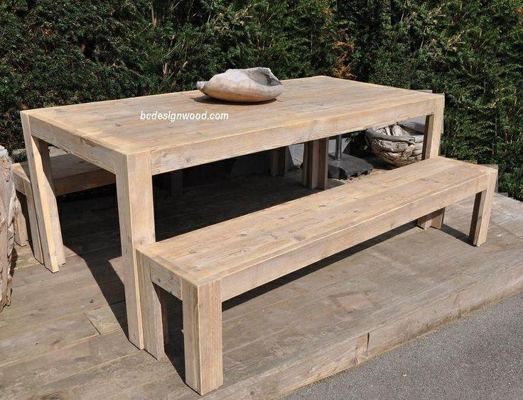 tuinset steigerhout ref Roma - buiteninrichting - tafels steigerhout