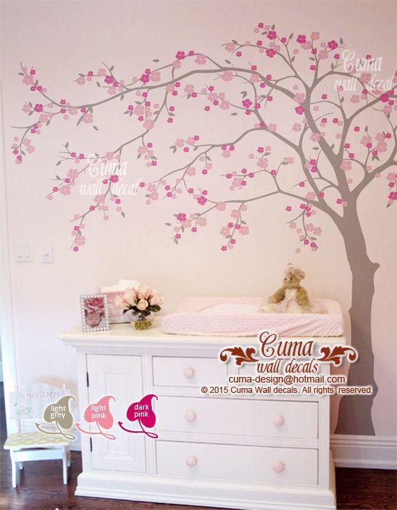 Cherry Blossom Wall Decal Wall Decals Flower Vinyl Wall Decals Wall Muralwall Sticker Nursery Flower Tree Z705 Cuma Cherry Blossom Wall De Nursery Wall Decals Vinyl Wall Decals Nursery Tree Mural