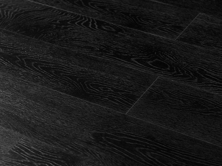 Porcelain stoneware wall/floor tiles with wood effect LEGNI HIGH-TECH Rovere Nero by ARIOSTEA