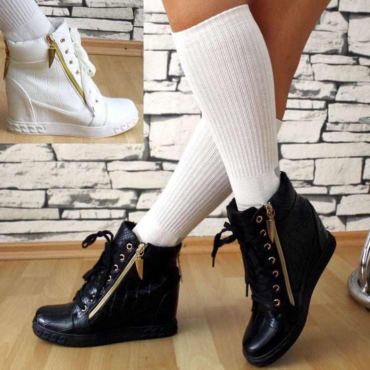Details Zu LuXus Designer SeXy Sneaker Keilabsatz Wedges Damenschuhe Hidden  Sportschuhe
