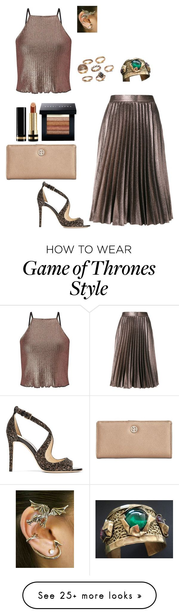 """""""bronze collection"""" by hermine-fragonn on Polyvore featuring Miss Selfridge, Roberto Collina, Jimmy Choo, Giani Bernini, Gucci and Bobbi Brown Cosmetics"""