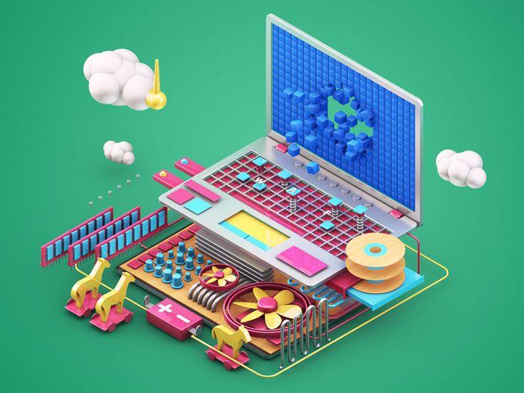 Dribbble - Laptop by Zhivko Terziivanov