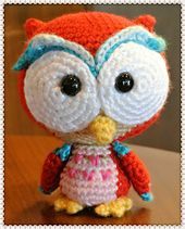 Ravelry: Elidi the Red Baby Owl pattern by amilovers