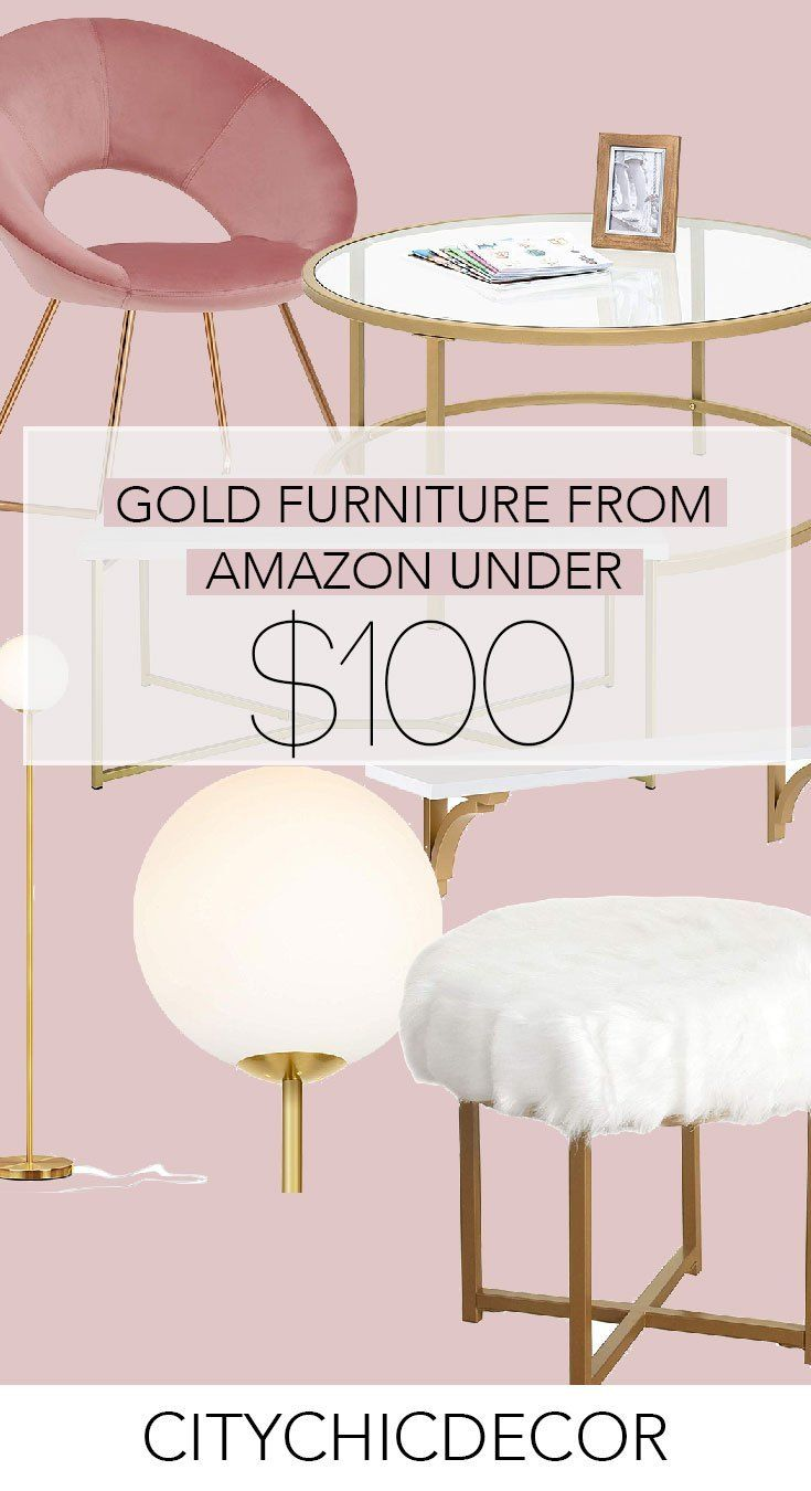 Gold Furniture From Amazon Under 100 City Chic Decor Gold