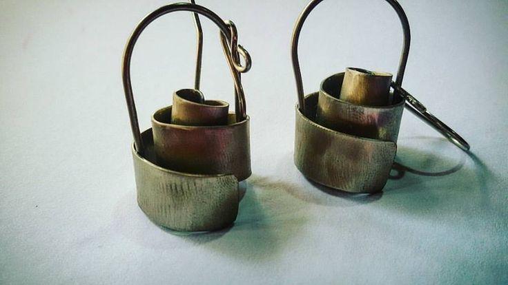 art jewelery metal handmade earings