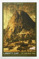 Долина Национальный Парк Йосемити Иллюстрации Путешествия Урожай Ретро…
