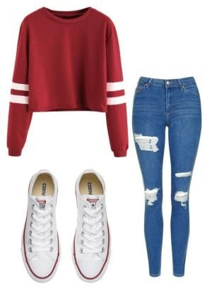 """Untitled #11"" by allygleavy12 on Polyvore featuring Topshop and Converse by jul…"