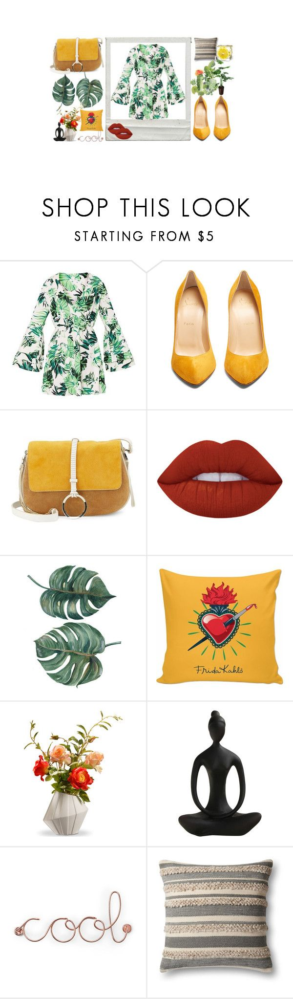 """""""#"""" by fragmxntos ❤ liked on Polyvore featuring Christian Louboutin, Halston Heritage, National Tree Company, Umbra and Magnolia Home"""