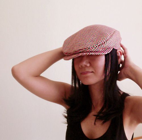 Free Sewing Pattern !! Newsboy Cap * Waffle Patterns // pdf sewing pattern