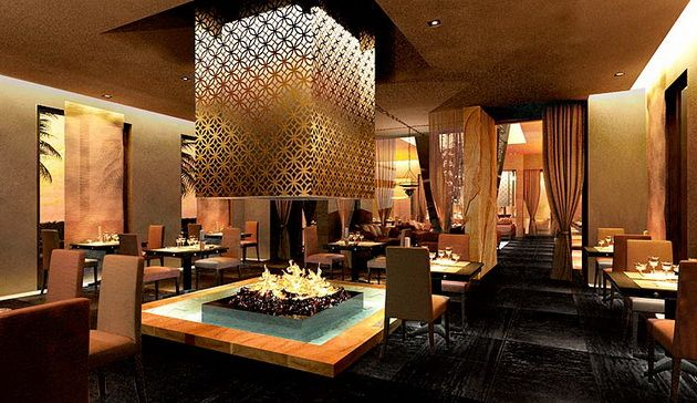 Projects restaurant b luxury hotel in morocco designed by