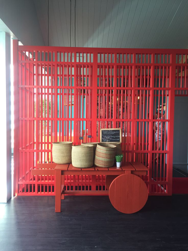 red birdcage stairwell at Spring Racing Carnival #red #marquee