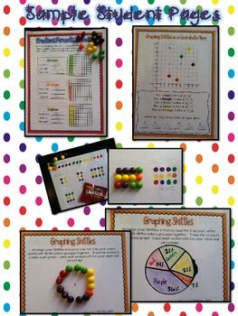 Skittles math printables for the upper grades 17 pages of activities