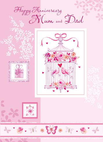 197 best wedding anniversary cards images on pinterest happy happy anniversary mum dad personalised parents anniversary greeting card m4hsunfo