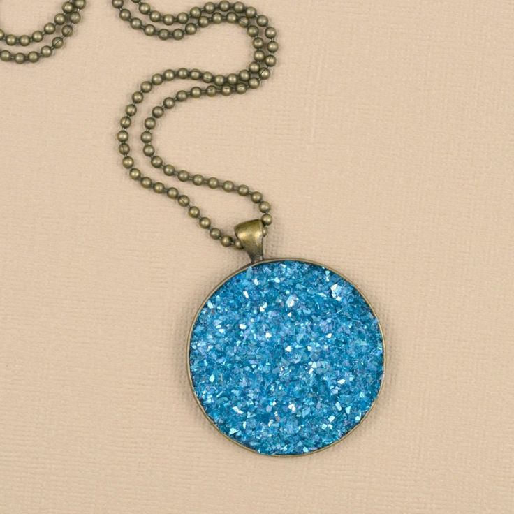 217 best jewelry making images on pinterest bead necklaces how to make a faux druzy necklace mozeypictures Gallery