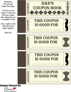 father's day coupons black and white