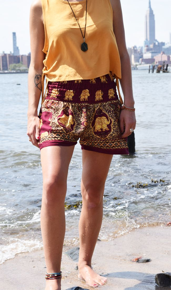 Have a case of wanderlust? Elephant shorts were made for your next adventure. Whether you want to take off on a spontaneous hike or explore a new city, elephant shorts will make you feel breezy and beautiful wherever you go. They're stylish, comfortable, AND help save elephants. Available for the summer only!