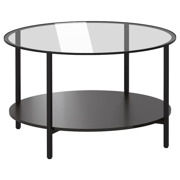 Vittsjo Table Basse Brun Noir Verre 29 1 2 75 Cm Avec Images Table Basse Ikea Table Basse Verre Ikea