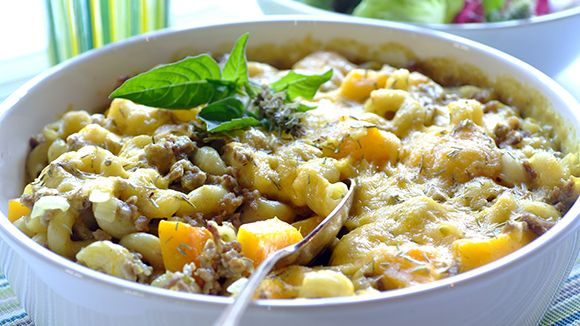 Mince and Butternut Pasta Bake