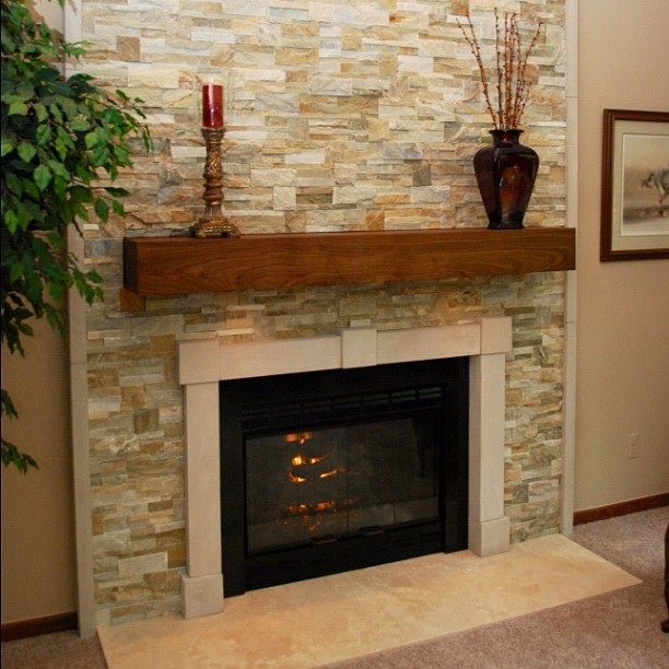 25 best ideas about stone fireplace surround on pinterest stone fireplaces fireplace ideas - Brick fireplace surrounds ideas ...