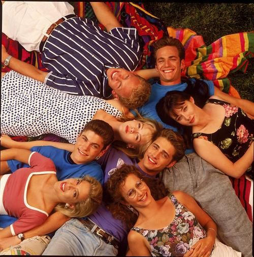 Beverly Hills 90210. I loved this show, but mostly during their high school years.