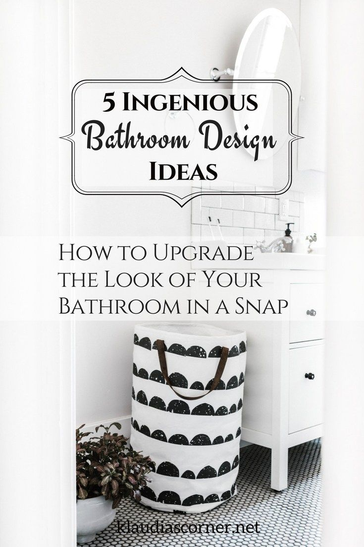 Bathroom Decor & Design Ideas -  5 Ingenious Tips to Upgrade the Look of Your Bathroom in a Snap - Whether you have outdated fixtures and colour schemes, or you have architectural challenges, there are thousands of ways to apply the proverbial makeup on any pig. Here are 5 bathroom decor ideas to spark your creativity. #bathroomideas #bathroomdesign #bathrooms  #interiordesignideas