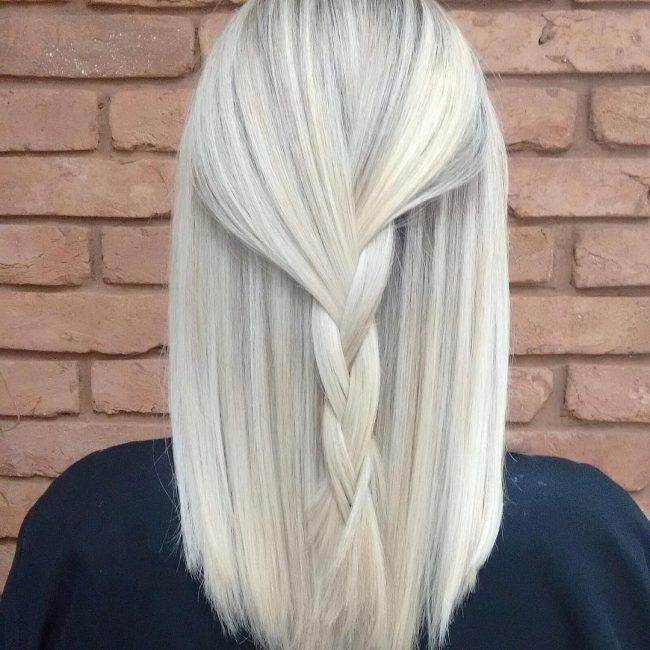 Platinum Blonde with Subtle Streaks