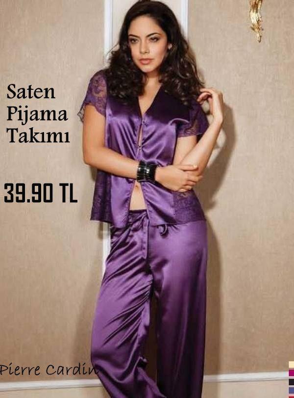 Pierre Cardin #SatenPijama Takım http://www.pijama.com.tr/bayan-pijama/Pierre-Cardin/6-8