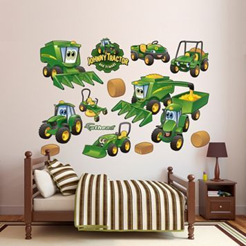 John Deere Johnny Tractor Farming Collection Wall Decals by Fathead
