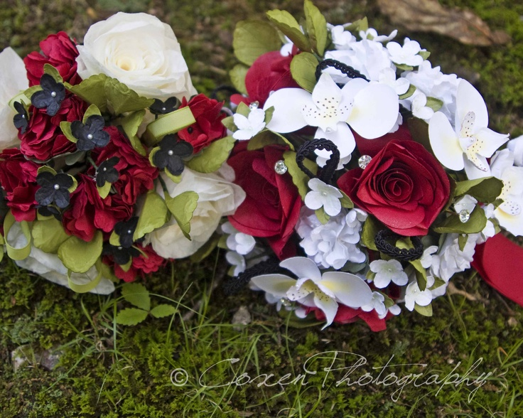 Paper Flower Wedding Bouquets (made to order in any colors)