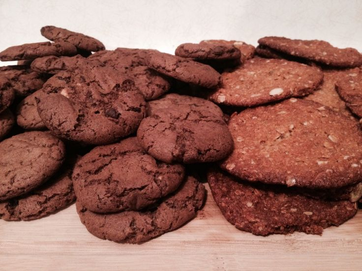 Homemade triple choc biscuits & Anzac cookies